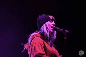 Singer onstage