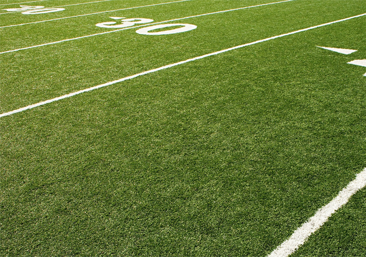 30 yard line on football field