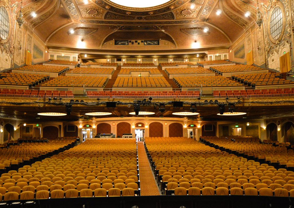 Indoor of Paramount Theatre viewed from stage