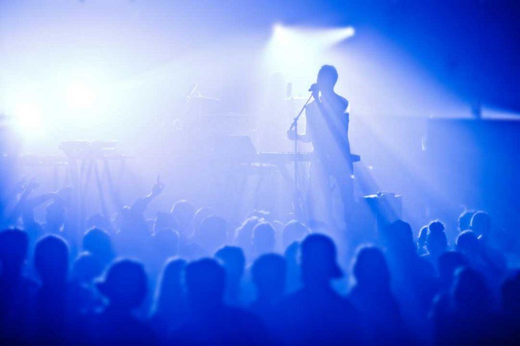 Singers onstage