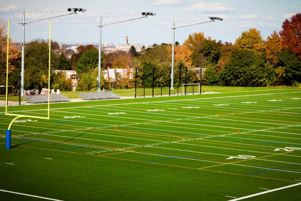 Football field in the fall