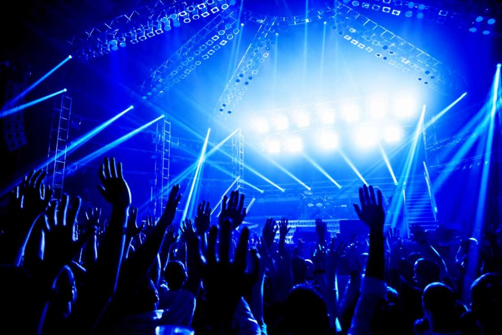 Concert, people with hands in the air