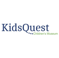 KidsQuest logo in Navy and green