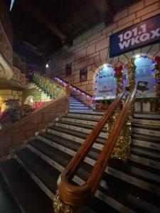 stairs inside Aragon Ballroom