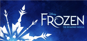 Frozen Boradway Show Logo with Snowflake