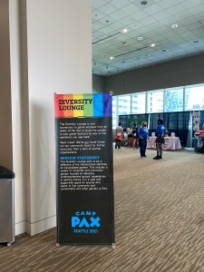 A Diversity Sign at PAX WEST Conference